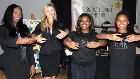 Bishara & Chyna learned dance basics from club members representing the Boys & Girls Clubs' Signature Dance Company.