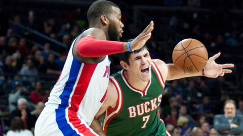Bucks at Pistons: 11/7/14