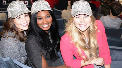 Sage, Bishara & Chyna sport their FOX Sports Wisconsin camo hats in honor of Veterans Day.