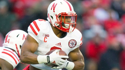 Across the field: Cornhuskers RH Ameer Abdullah