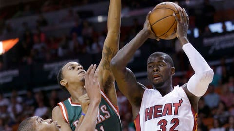 Bucks at Heat: 11/16/14