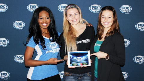 Whether it's on TV or the FOX Sports GO app, the FOX Sports Wisconsin Girls love to cheer the deer!
