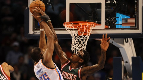 Bucks at Thunder: 12/9/14