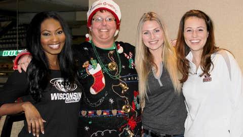 It takes talent to make an award-winning ugly sweater! Bishara, Chyna & Sage were impressed!