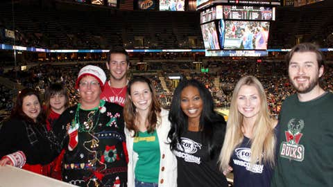 """The inaugural winners of the FOX Sports Wisconsin Girls' Ugly Sweater Contest got to live the """"suite life."""""""