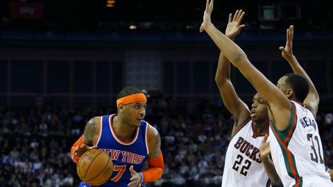Milwaukee Bucks vs. New York Knicks: 1/15/15