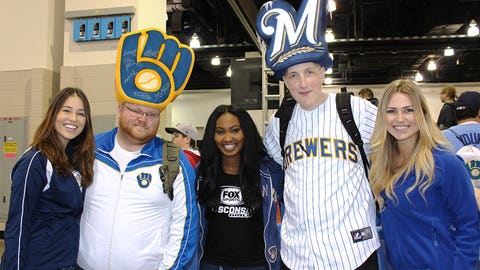 Brewers fans are the best! Check out these cool hats.