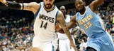 Pekovic, Wolves run out of gym by Nuggets