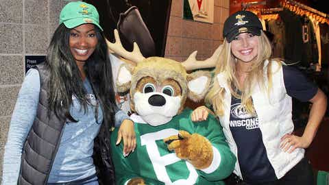 Bishara, Chyna & Bango sport the Bucks retro look as the team defeated the Wizards.