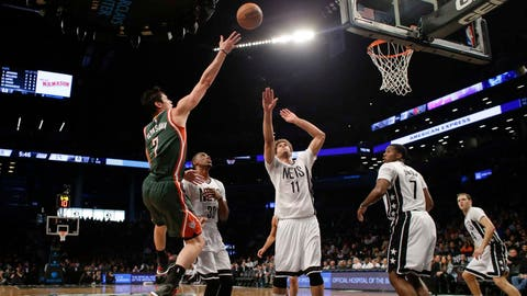 Bucks at Nets: 3/20/15