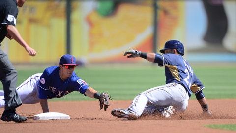 Brewers vs. Rangers: 3/21/15