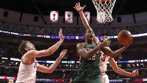 Bucks at Bulls, Game 2: 4/20/15