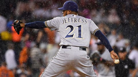 Jeremy Jeffress, Brewers reliever (↑ UP)