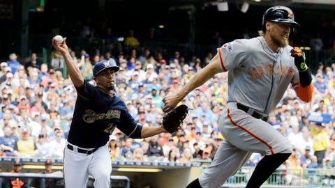 Giants at Brewers: 5/25/15-5/27/15