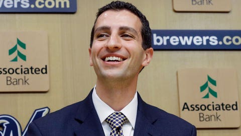 David Stearns, Brewers general manager (↑ UP)