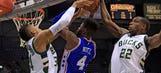 Bucks edge 76ers in Parker's return