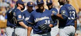 Peralta allows 5 first-inning runs as Brewers lose 6-2