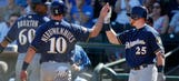 Nieuwenhuis' homer lifts Brewers past Indians 5-4