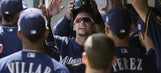 Brewers' Gennett homers twice in loss to Indians