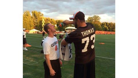 Joe Thomas, Browns and ex-Badgers offensive lineman