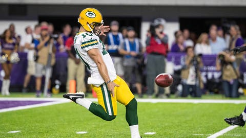 Don't get attached to Green Bay's punter