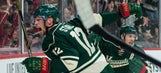 Wild rally with 3 second-period goals to win home opener