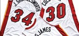 Here are the Heat and Nets nickname jerseys