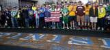 Bostonians unite for emotional marathon finish-line photo shoot