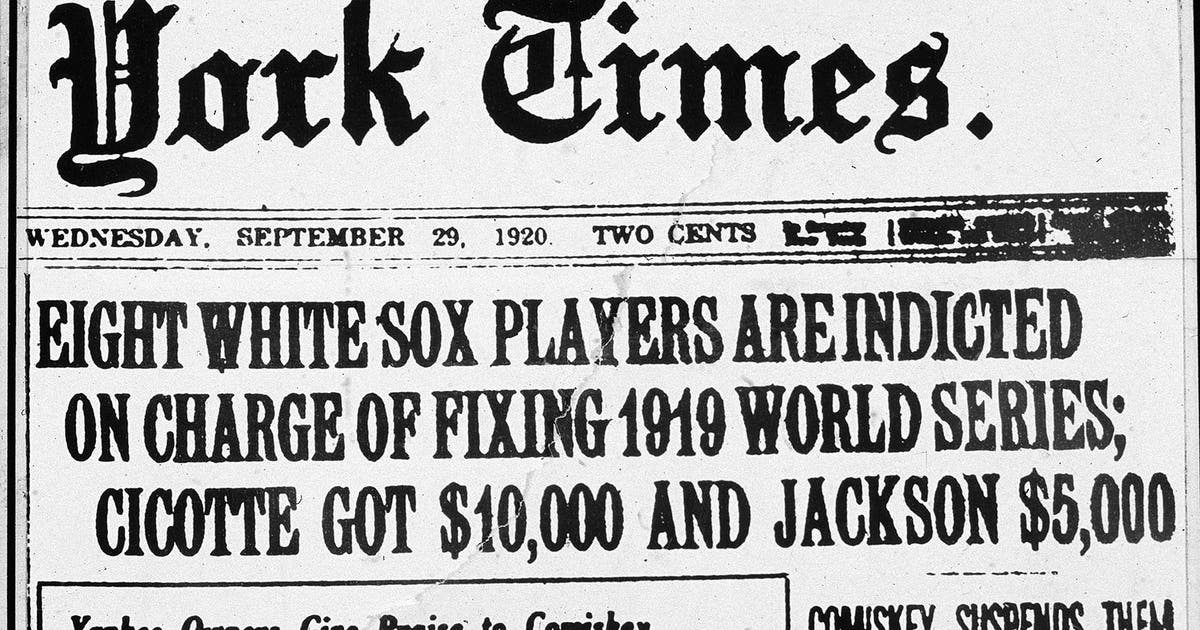 chicago black sox scandal brief summary