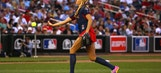WATCH: Jennie Finch strikes out Adrian Peterson in celeb softball game