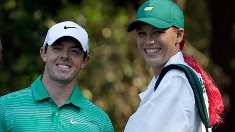 Caroline Wozniacki and Rory McIlroy (broken up)