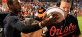Watch Orioles All-Star Jones share a pie with a dog