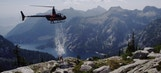 Paul Bissonnette doused with glacier water from helicopter for crazy #icebucketchallenge
