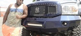 NFL offensive lineman has massive, Yankees-themed truck