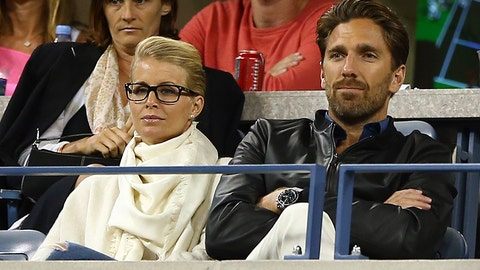 New York Rangers goaltender Henrik Lundqvist and wife Therese Andersson