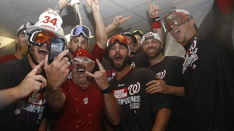 Nationals players strike a pose