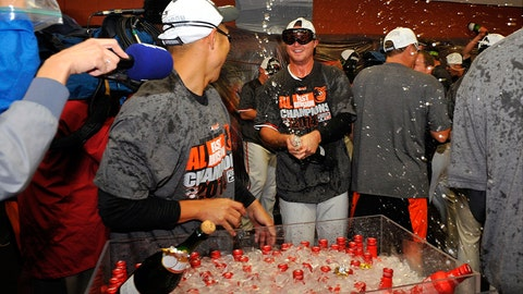 There was a lot of beer on hand in the Orioles' locker room