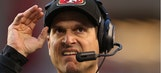 Jim Harbaugh says he deserves a medal for lasting so long with 49ers