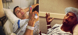Under the Knife: Athletes share behind-the-scenes photos from before or after surgery
