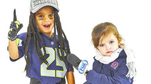 Youngster Richard Sherman and Erin Andrews