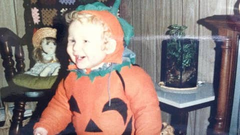 Throwback: This is T.J. Lang as a pumpkin