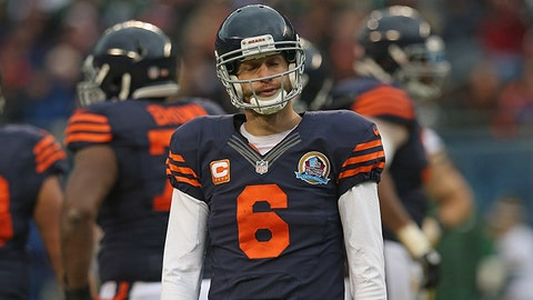 Jay Cutler, QB, Bears (shoulder): Out