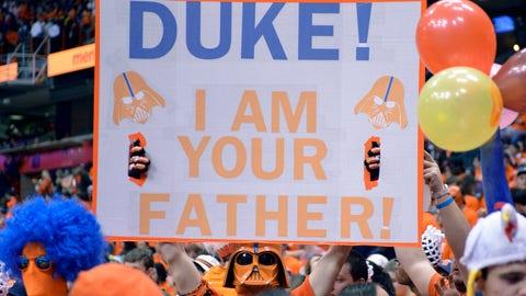 Darth Vader is a Syracuse fan