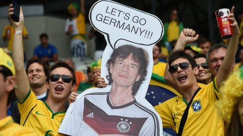 Brazilians believed (and still do believe) that Mick Jagger's support is a curse