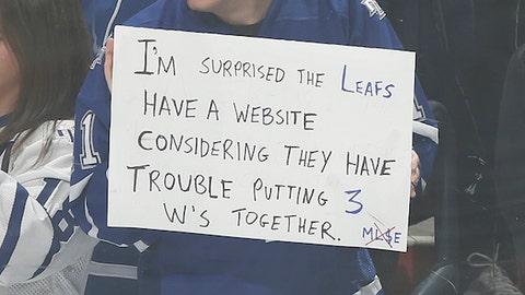 A disgruntled Leafs fan