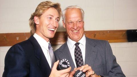 Wayne Gretzky and Gordie Howe