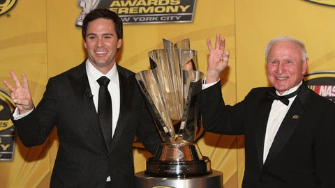 Jimmie Johnson and Cale Yarborough