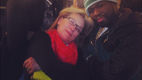 Meryl Streep, 50 Cent and Kobe Bryant posed for a picture. That is all