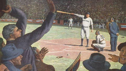 1932: Babe Ruth allegedly calls his shot