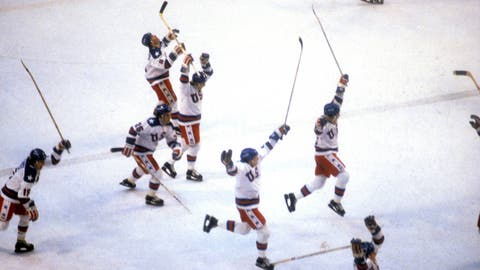 1980: USA hockey team beats Soviet Union in Miracle on Ice